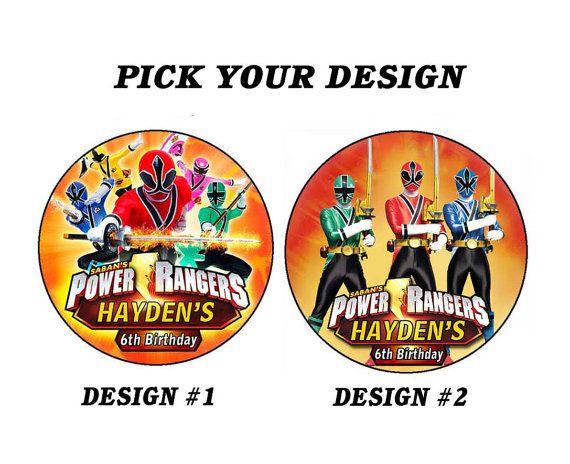 Printable Personalized Power Rangers Samurai Round