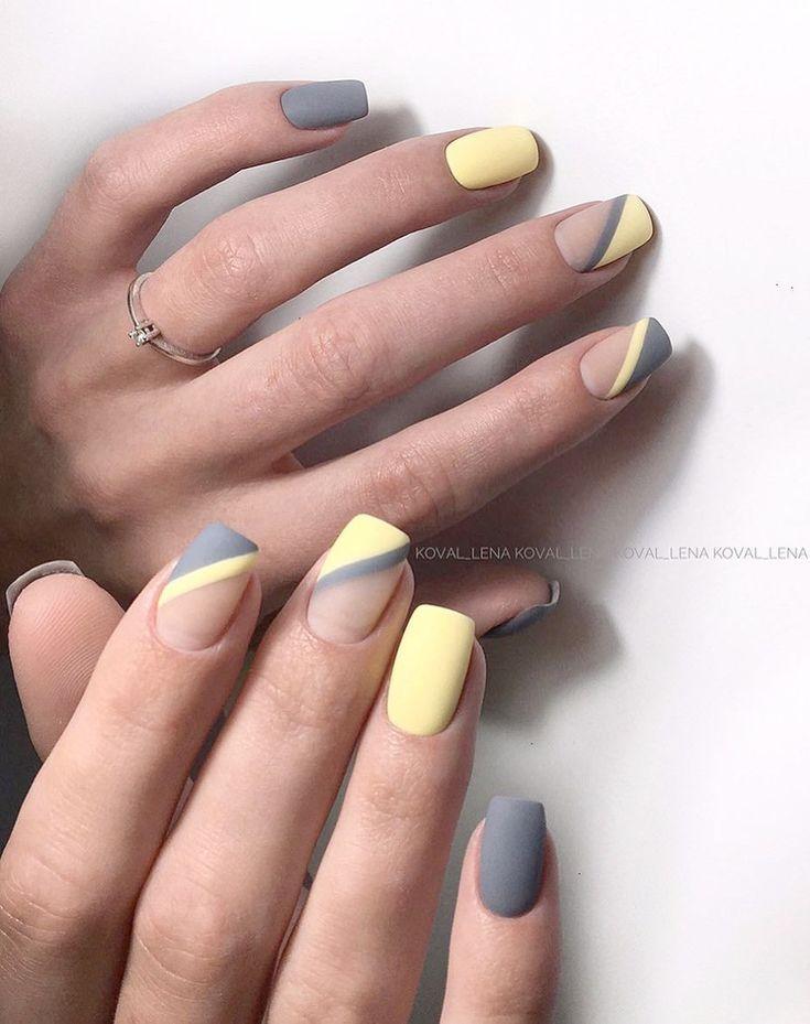 JINDIN 24 Blatt Matte Gefälschte Nägel mit Nagelkleber Kurze Ovale Nagelspitzen Design Acryl Französisch Falsche Nagelspitzen Maniküre Kunst Für Frauen Mädchen – Uñas de gel