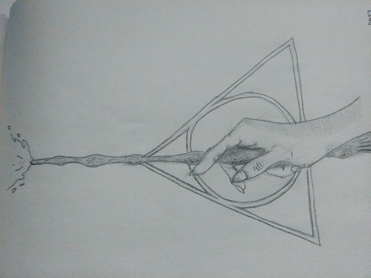 30 day drawing challenge | Deathly hallows sign