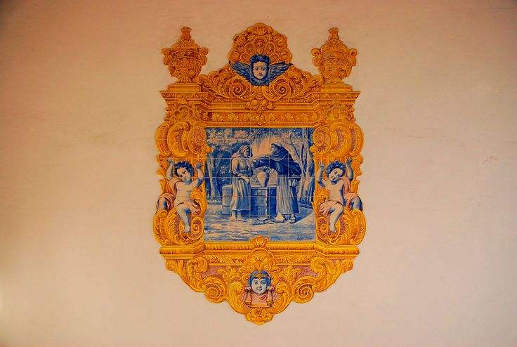 Azulejos, tiles, in the town of Aveiro