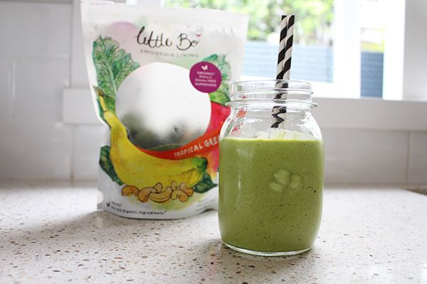 Little bo Smoothie Mixes are one of my favourite way to sneak in a whole bunch of greens into my morning smoothie....