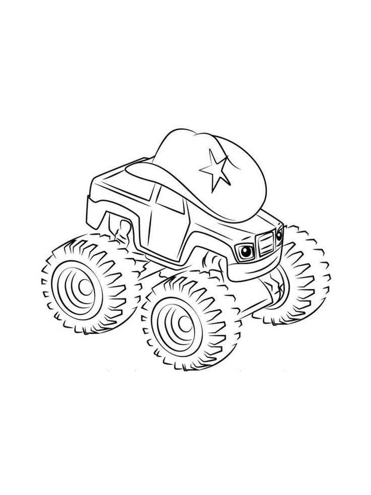 blaze and the monster machine coloring pages for kids free ...