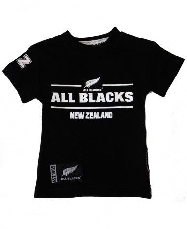 New Zealand All Blacks Rugby Baby Fashion T-Shirt