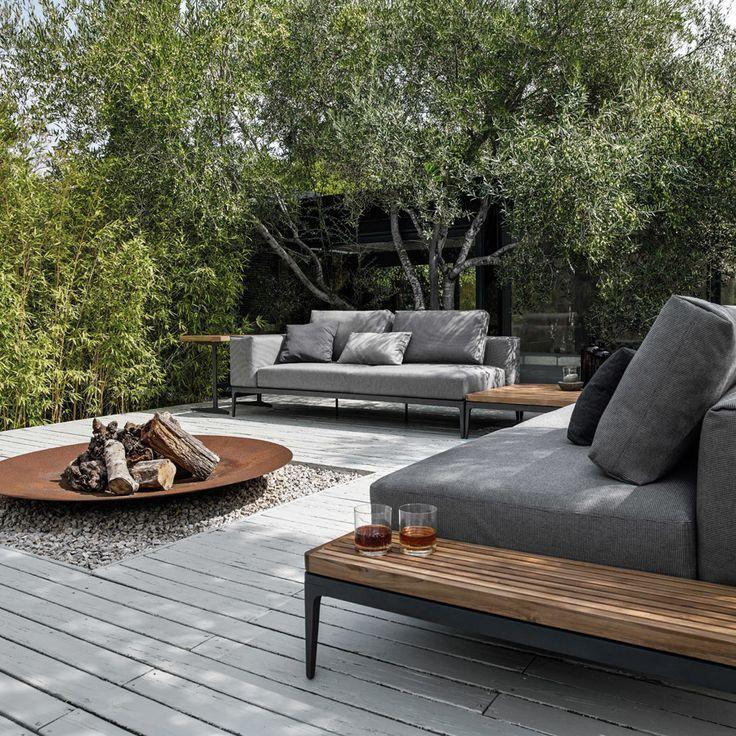 Gloster Grid Deep Seating Set Authenteak Furniture Backyard Seating Outdoor Patio Decor Patio Design
