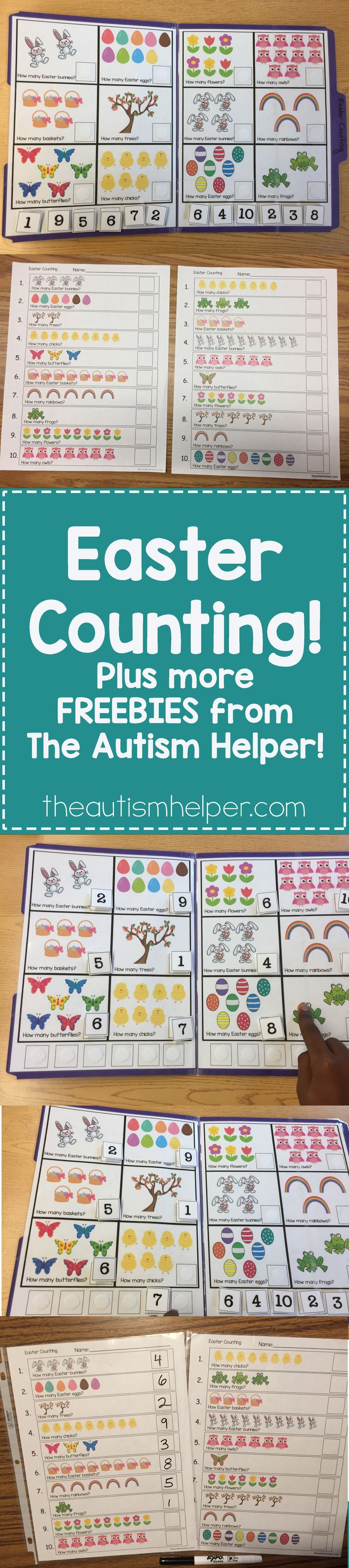We're sharing tons of FREEBIES from Sarah the Speech Helper. Download our Easter Counting resource today!! From theautismhelper.com #theautismhelper