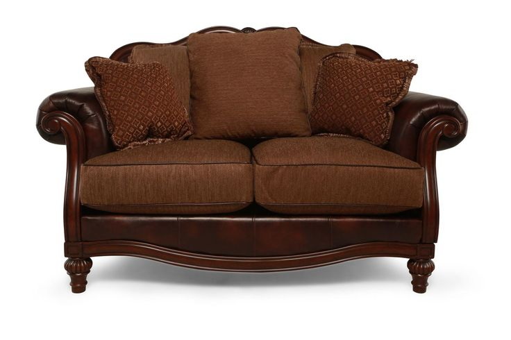 Ashley Clairemore Antique Loveseat | Mathis Brothers Furniture