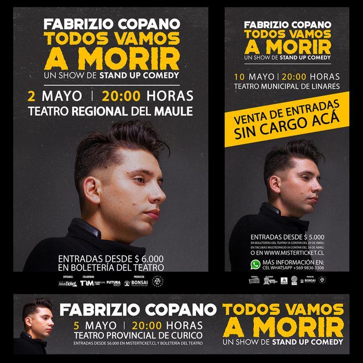 """Diseño Fusión para @fabriziocopano con @ProduceBonsai Campaña Regiones Copano """"Todos Vamos a Morir""""."""