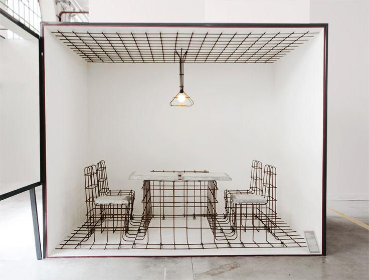 sophie vaugarny sculpts concrete no-stop furniture for the saint etienne biennale