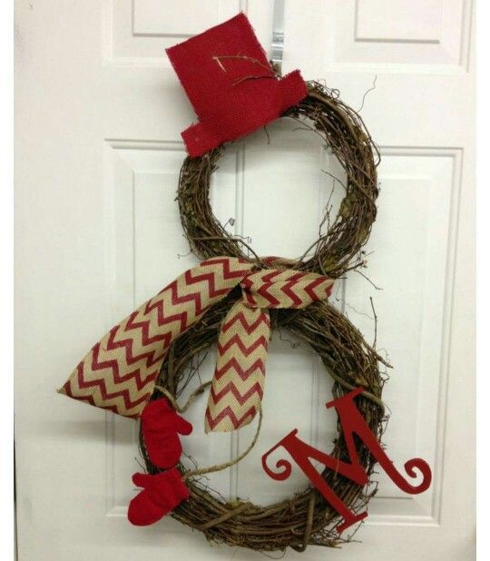 Easy holiday monogram for your front door!