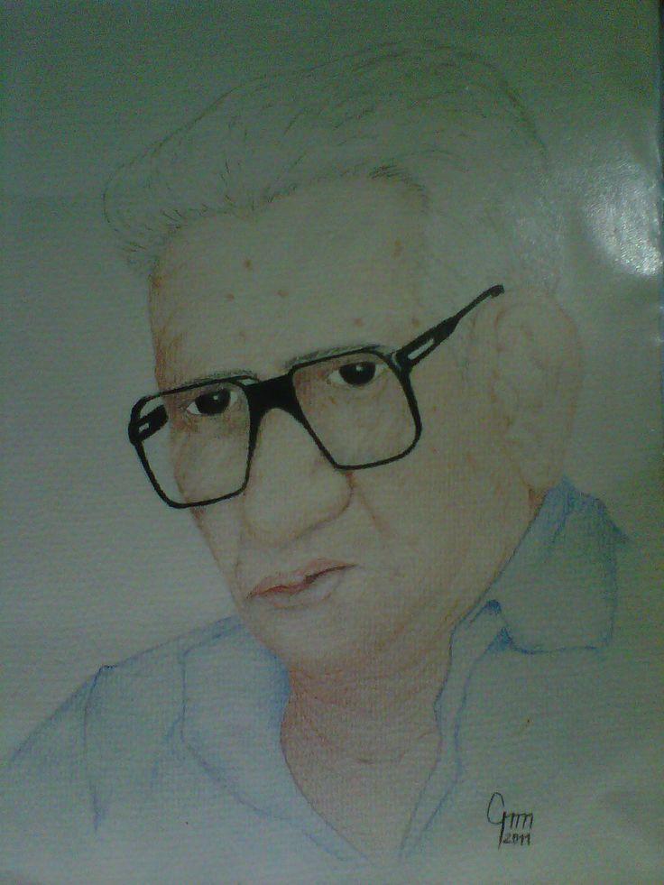 retrato del maestro Julio Villarroel, 2011 lapices de colores