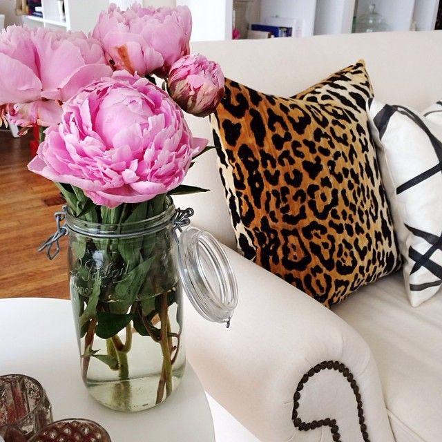 Pink Peonies Leopard My Instagram Pinterest Jars
