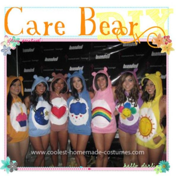 """DIY Care Bear Costume"" by the-tip-nerdss on Polyvore"