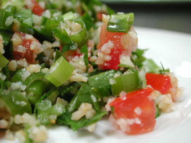 Tabbouli - Bring a taste of the Mediterranean to your cookout with this tabouli salad recipe from Food.com.