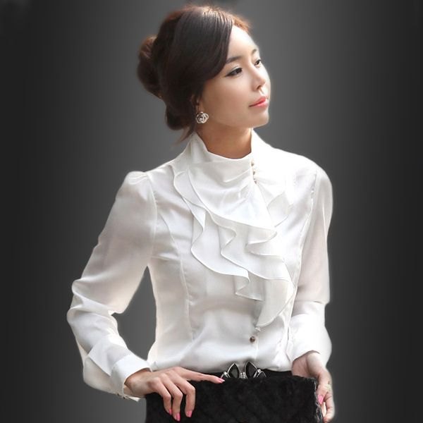 baju kerja putih modis