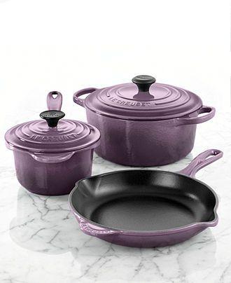 Le Creuset Signature Enameled Cast Iron 5 Piece Cookware Set - Cookware - Kitchen - Macy's