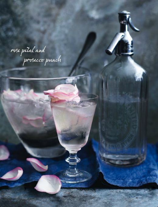 Rose Petal and Prosecco Punch {recipe}