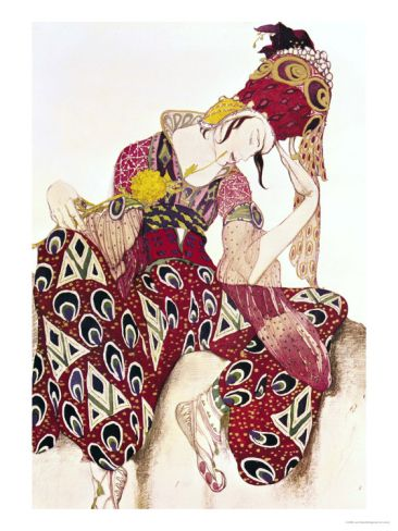 "Costume Design for Nijinsky in the Ballet ""La Peri"" by Paul Dukas 1911 by Leon Bakst. Giclee print from Art.com."