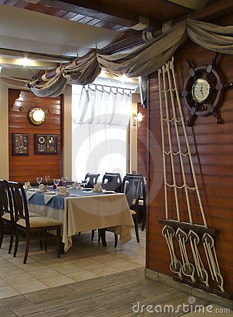Nautical decor  ship s rigging   sails decorate the wall   ceiling in this  dining area  Nautical Dining RoomsNautical  Best 25  Nautical dining rooms ideas on Pinterest   Nautical  . Ship Dining Room Set. Home Design Ideas