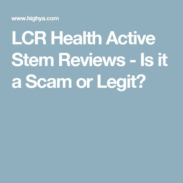 Lcr Health Active Stem Reviews Is It A Scam Or Legit Health