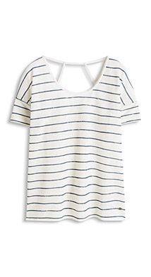 Esprit / Feminine cut-out T-shirt with linen