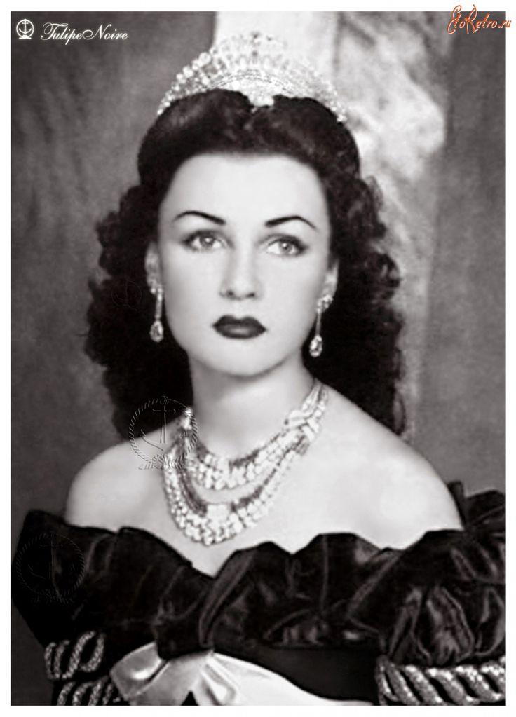 Princess Fawzia of Egypt as Queen of Iran.