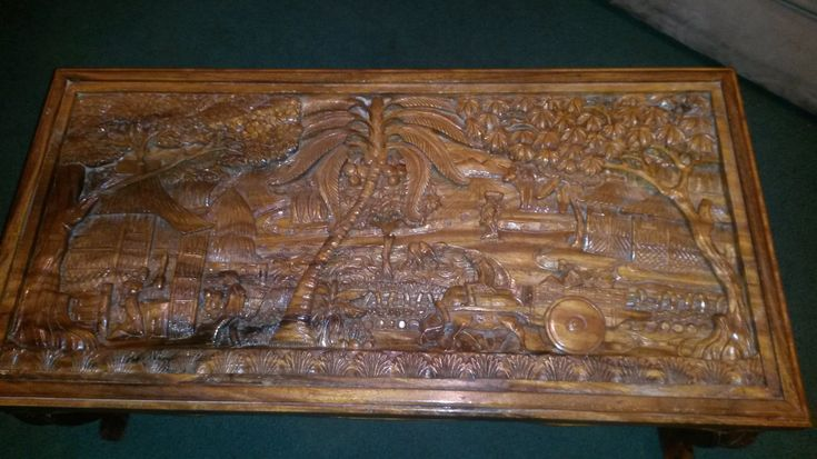 20 Hand Carved Coffee Table - Real Wood Home Office Furniture Check more at http://www.buzzfolders.com/hand-carved-coffee-table/