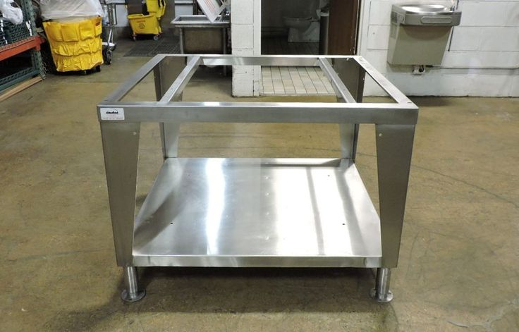 "Stainless Steel Commercial Restaurant Equipment Stand - 40"" x 36"""