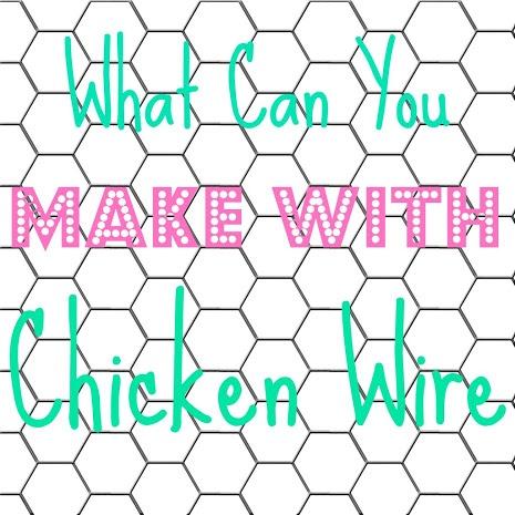 107 best CHICKEN WIRE images on Pinterest   Chicken wire crafts ...