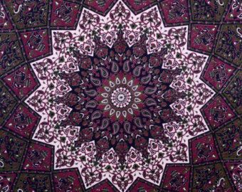 Maroon star Tapestry Wall Hanging, Hippie Tapestries, Wall Tapestries, Mandala Tapestries, Bohemian