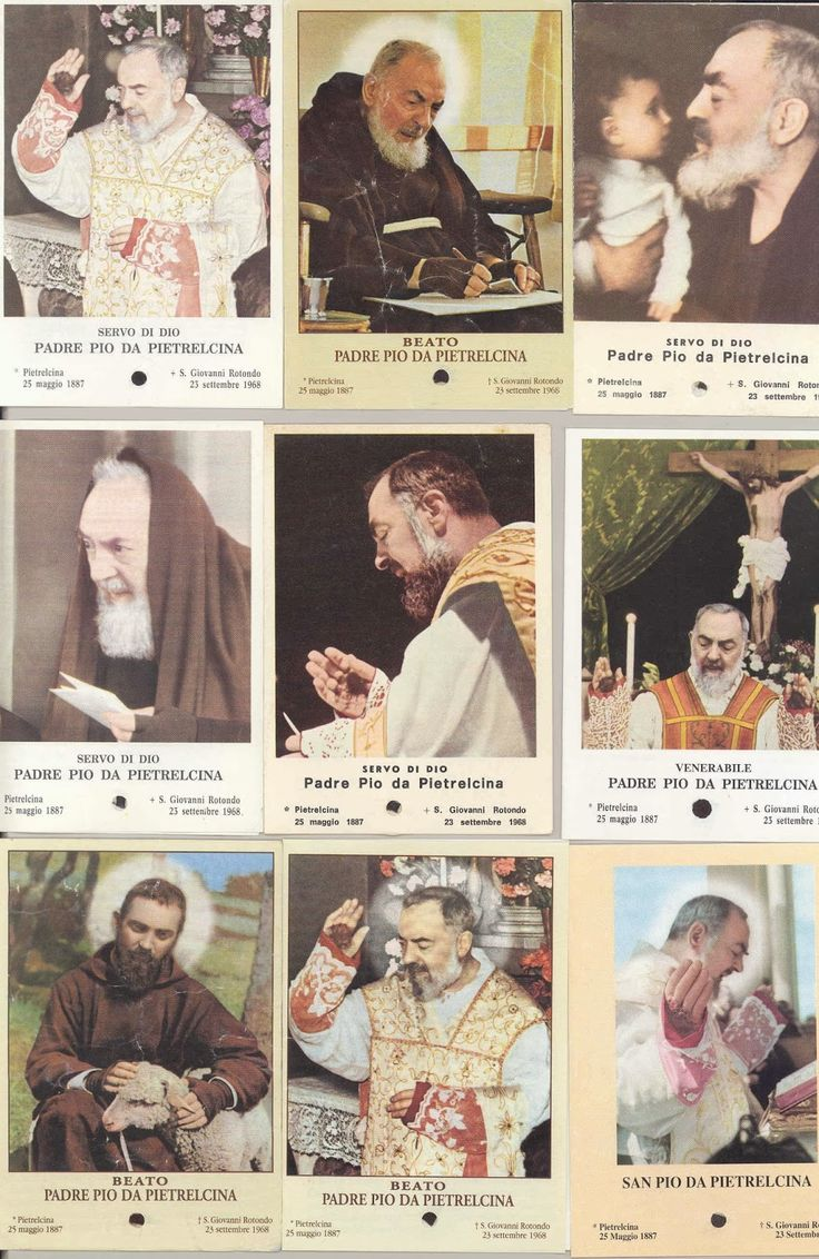 padre pio relics | few of the old collection of Padre Pio relic holy prayer cards