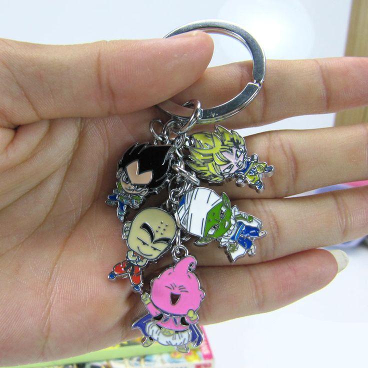 Porte Clés Dragon Ball Z- 5 Pièces en métal #dbz-Sangoku Boo Krillin Vegeta Piccolo