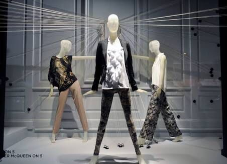Using 3 mannequins creates a focal view point