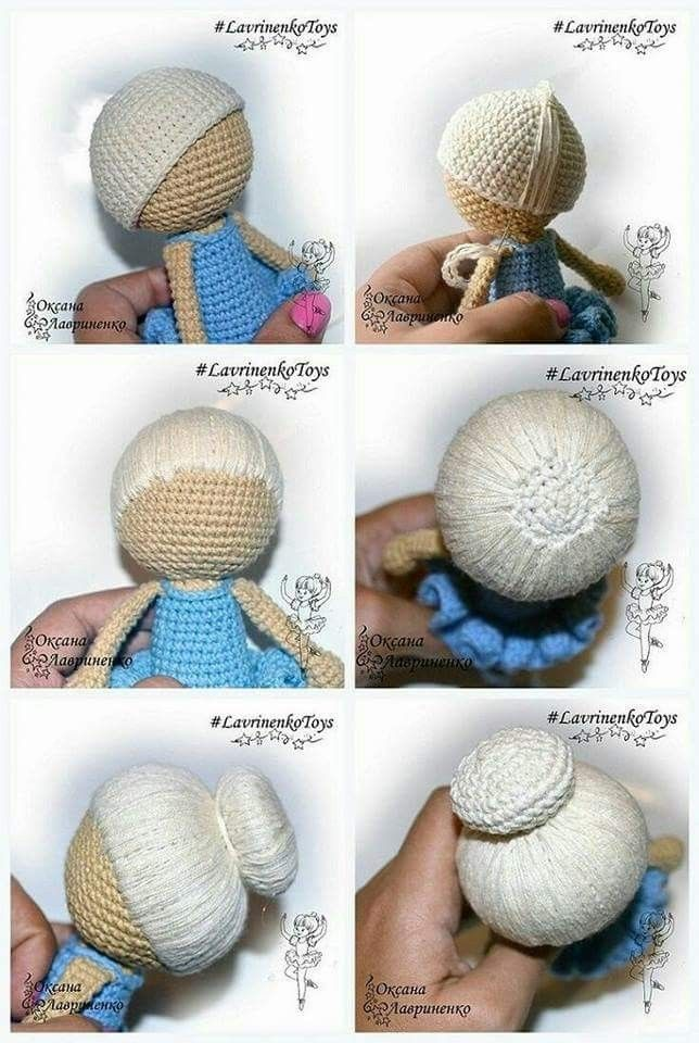 How to Crochet Dolls Hair (easy) (FREE Crochet Patterns) | Crochet ... | 960x644