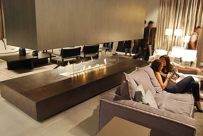 contemporary central fireplace (bioethanol open hearth) FIRE LINE AUTOMATIC Planika Fires