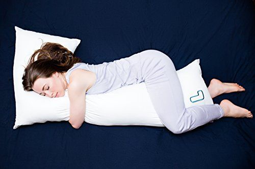 The snuggL Pillow - Total Body Pillow, Rated Best Pillow For Side Sleepers, Pregnancy Pillow, Hypoallergenic with Contoured Support System #pregnancypillow,