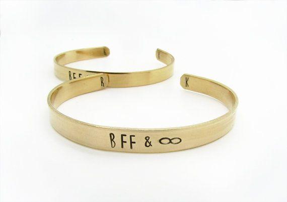 personalized friendship bracelets  best friend by WyomingCreative