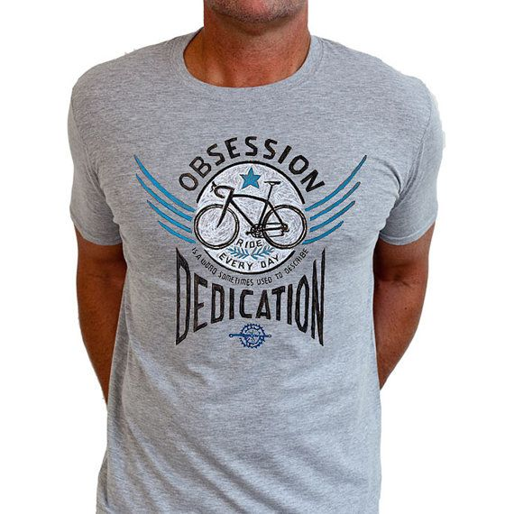 Bike Obsession - Men's Cycling T Shirt Gift For Cyclist Husband Tee