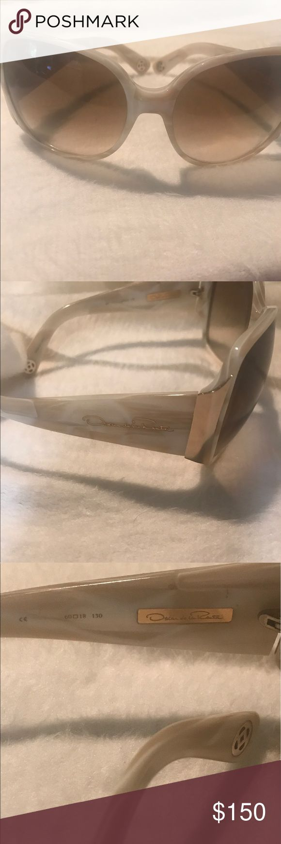 Vintage Oscar De LaRenta Sunglasses Authentic Mother of Pearl... hard to find Oscar sunglasses! These are perfect not one scratch or imperfection! Gold hardware.Great for yearound. Classic and distinguished. ODLRS 159. Oscar de la Renta Accessories Sunglasses