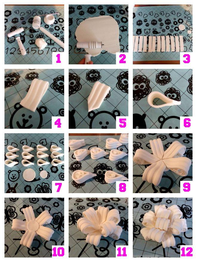 How-to lussenstrik van fondant (how-to poofy gumpaste bow).