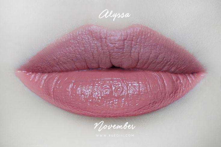 KathleenLights x Colourpop Ultra Satin Lips in Alyssa vs November Lip Swatch