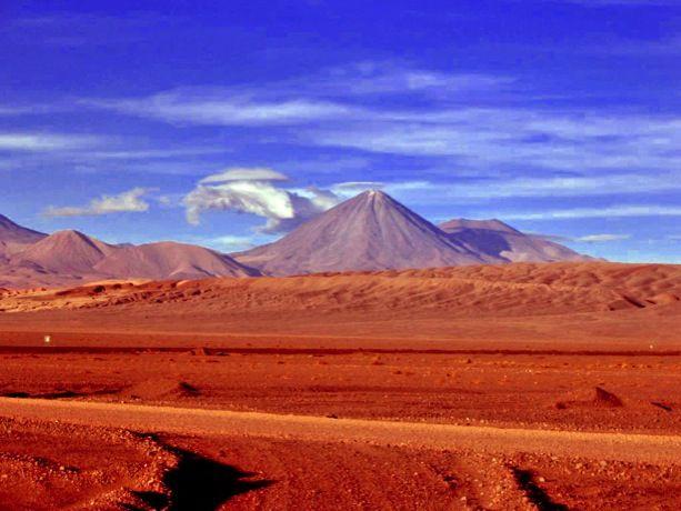 Desierto de atacama, Volcan Licancabur , San Pedro de Atacama .
