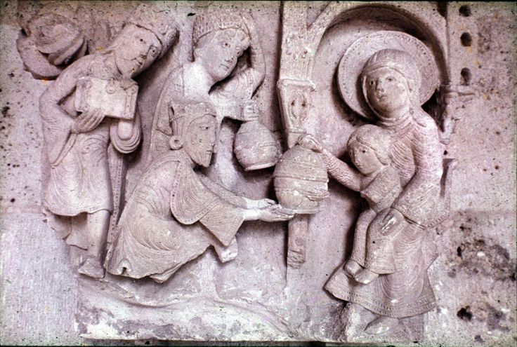 Adoration of the Magi, Autun Cathedral, Autun, France, 12th c.