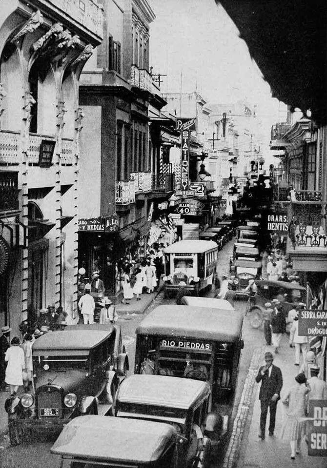 Calle Fortaleza, San Juan, Puerto Rico c1938