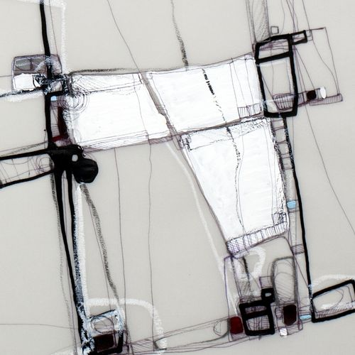 Urban morphology. Artworks / Drawing on tracing paper. Mixed media, ink, pencil, acrylic. 2016 / Detail