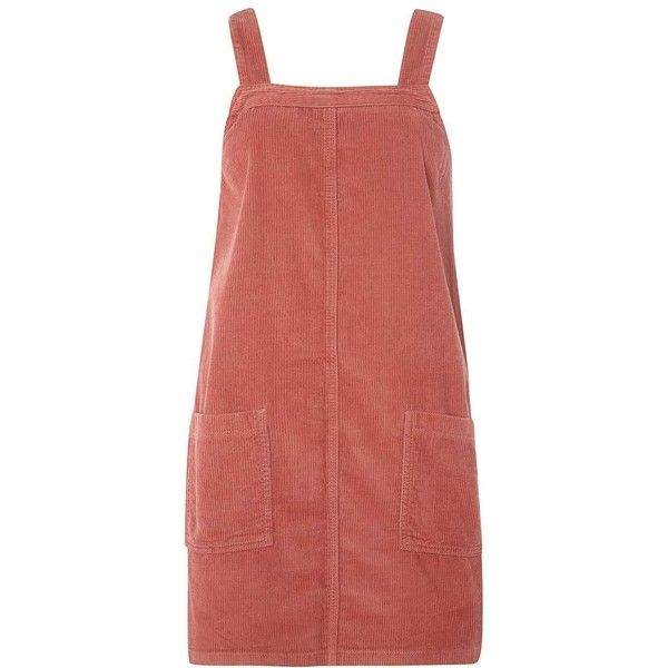 Dorothy Perkins Pink Cord Pinafore Dress found on Polyvore featuring dresses, pink, pinafore dress, dorothy perkins, pink dress, pink red dress and cotton dresses
