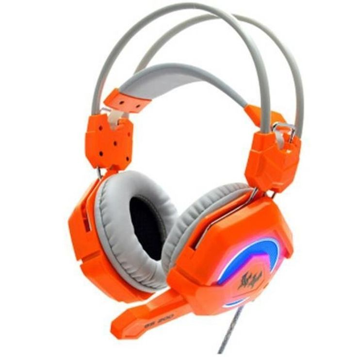 รีบเลยมาใหม่<SP>GS200 Super Deep Bass Headphones with Mic Stereo Breathing LED Light for PC Gamer(Orange)++GS200 Super Deep Bass Headphones with Mic Stereo Breathing LED Light for PC Gamer(Orange) USB Gaming Headset for PS3, PC, Laptop. Primary kind of gaming headset, perfect for playing games, listening m ...++