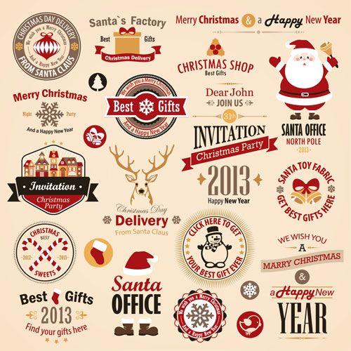 free-vector-christmas-labels-freedesignfile.jpg 500×500 pixels