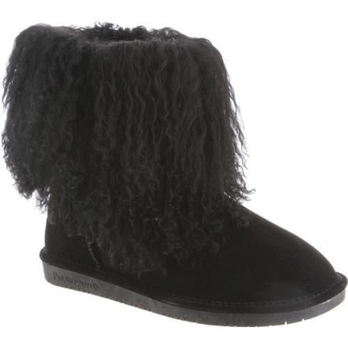 Women's Bearpaw Boo Solids Furry Boot II Curly Lamb Hair/Cow