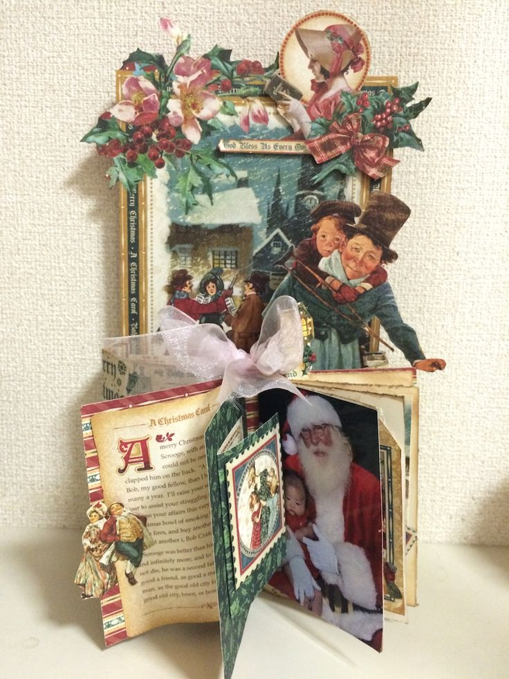 Christmas+Carol+Album by:Yoko Imai(cre8) #scrapbooking #Christmas Carol #Graphic45
