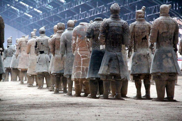 Soldados de terracota de Xian.